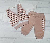 """Детский костюмчик велюровый """" Pattic baby """"для девочки  рост 68,74,80,86 см"""