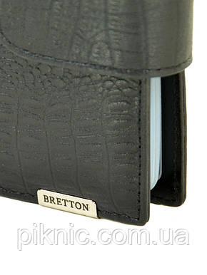 "Визитница кожаная Bretton. Black Edition ""Рептилия"", фото 2"