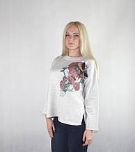 Молочная женская кофта с нитью люрекса «Стрекоза»