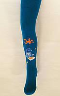 Теплые махровые колготки Смешарик синего цвета, фото 1