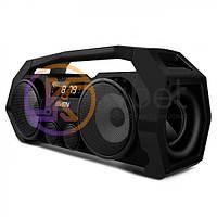 Колонка портативная 2.0 Sven PS-465 Black, 2 x 9 Вт, пластиковый корпус, Bluetooth, MicroSD/USB ридер, питание от аккумулятора, управление сверху