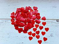 Конфетти сердечки красные 250г