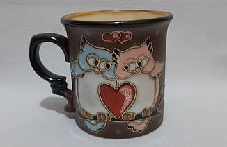 """Чашка керамическая """"Совы с сердцем"""""""