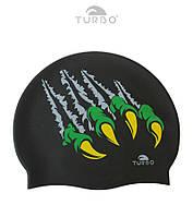 Силиконовая шапочка для плавания Turbo Garras (Black)