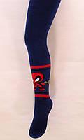 Теплые махровые колготки Дэдпул темно-синего цвета, фото 1