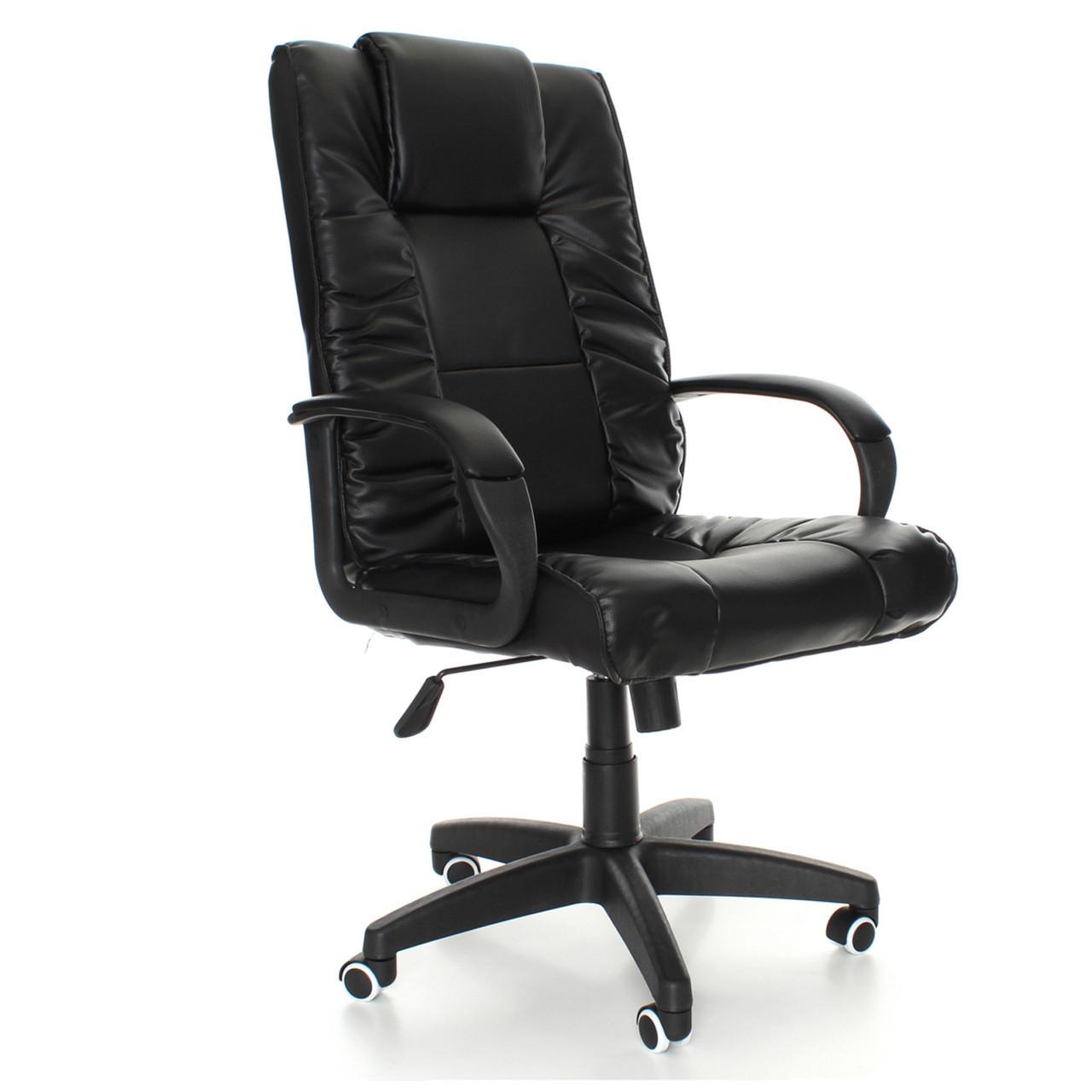 Кресло офисное NEO8018. Черное и коричневое.