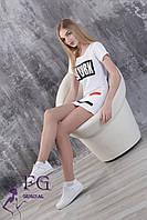 """Платье спортивное """"New York""""  44, белый, фото 1"""