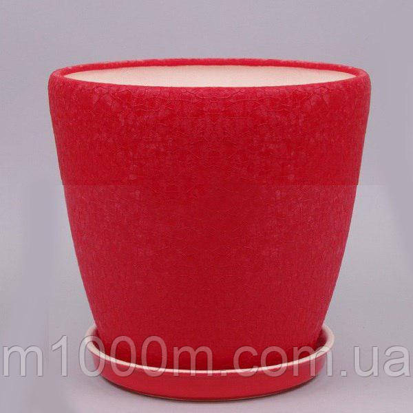 Горшок керамический Грация №1 (10л) ШЕЛК ЦВЕТНОЙ, фото 1
