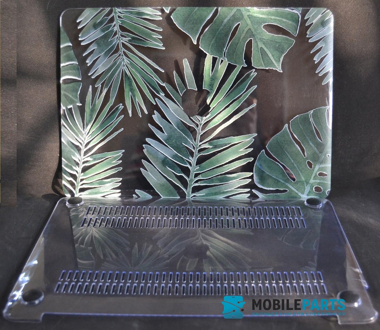 Пластиковый Чехол-накладка для Apple MacBook (281*197мм) (Зеленые листья)