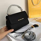 Сумка, клатч, Майкл Корс Michael Kors Ava 18 см, шкіряні, колір чорний, фото 6