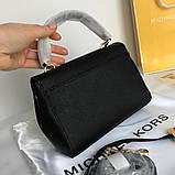 Сумка, клатч, Майкл Корс Michael Kors Ava 18 см, шкіряні, колір чорний, фото 3