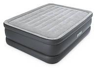 Надувная кровать с насосом двухместная 152х203х51 см