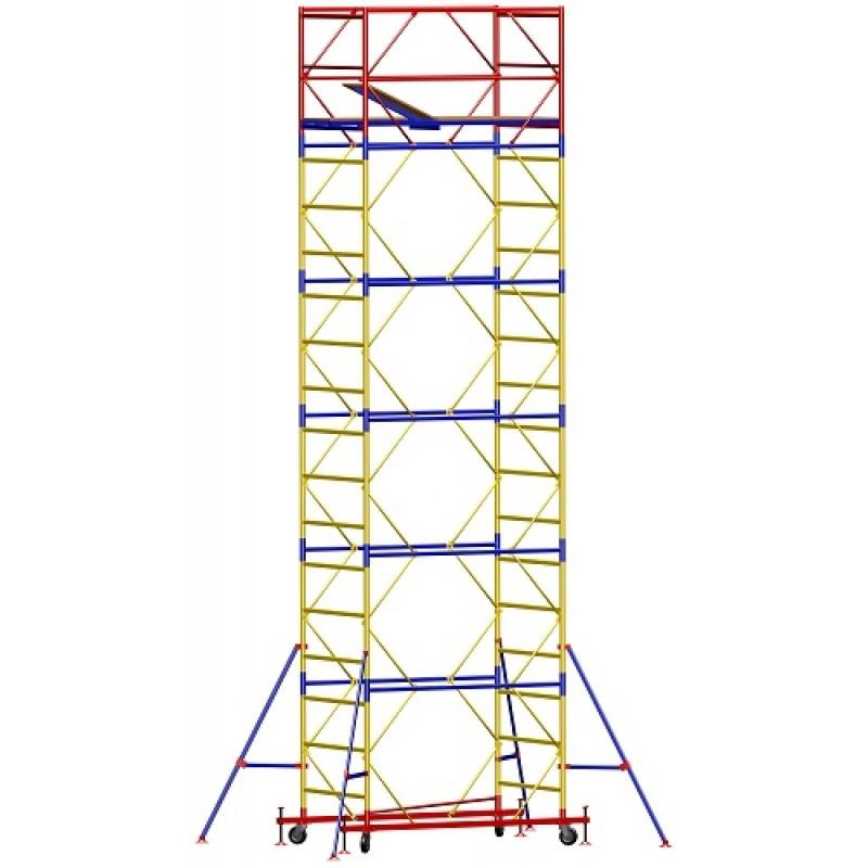 Вышка - тура - ширина 1,2 м, длина 2,0 м, высота настила - 1,8 м, рабочая высота - 3,8 м