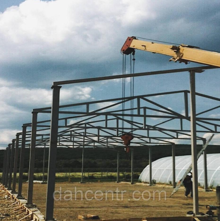 Ангар Двускат 24х60 навес, фермы, цех, здание, помещение, склад, сто