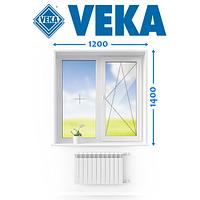 Німецьке Вікно VEKA, (120*140 см.), Ромни