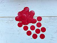 Конфетти кружочки красные  35мм  50г
