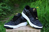 Мужские кроссовки Nike Air Force 1 темные Реплика Отличного Качества