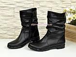 """Жіночі демісезонні черевики з натуральної шкіри чорного кольору ТМ """"Maestro"""", фото 3"""