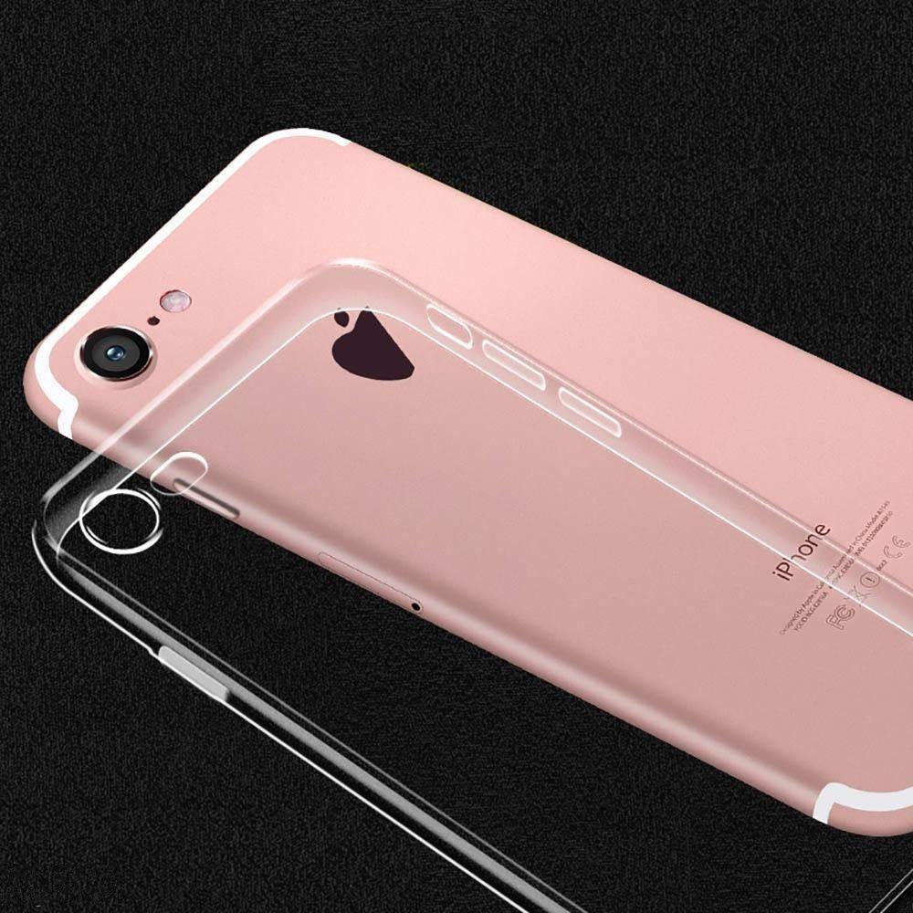 Силиконовый прозрачный чехол на iPhone 7 ОПТ