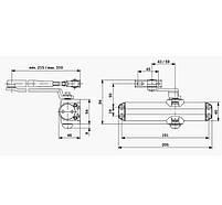 Дверний доводчик DORMA TS Compakt сірий, фото 2
