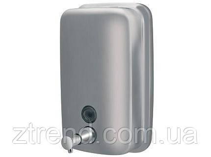 Дозатор мыла 1000 мл матовый хром (сталь)