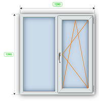 OPENTECK ELIT 70 Окно металлопластиковое на две створки