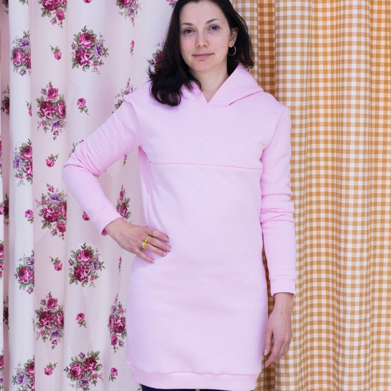 Cвитшот Casual для беременных и кормящих мам HIGH HEELS MOM (розовый, размер S)
