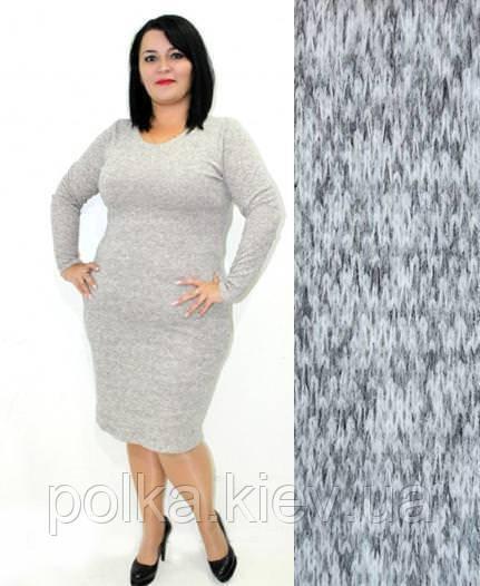"""Женское платье из ангоры """"Rondo"""": большие размеры 54, серый"""