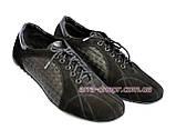 Туфли-кроссовки замшевые мужские комфортные, цвет черный, фото 4