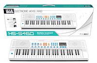 Детский синтезатор, орган с микрофоном  HS-5460B-white, 200 ритмов