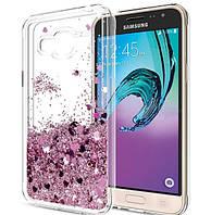 Чехол-накладка Жидкий Блеск силикон для Samsung Galaxy S6, фото 1