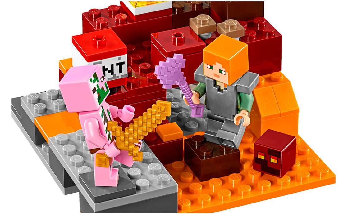 e07dec247 LEGO Minecraft Битва в Нижнем мире, цена 549 грн., купить Київ — Prom.ua  (ID#863106880)