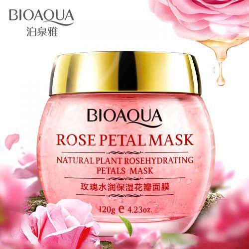 Маска для лица с лепестками роз BIOAQUA Rosepetal Mask Natural Plant Rosehydrating Petals Mask (120г)