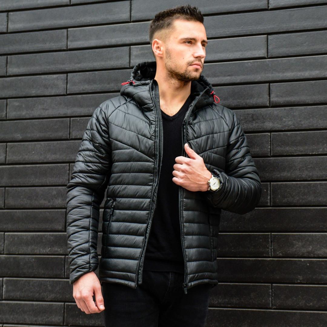 Мужская куртка, черного цвета. Куртка демисезонная. ТОП КАЧЕСТВО!!!