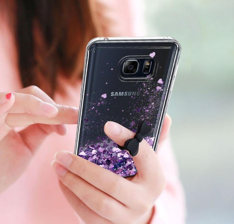 Чехол-накладка жидкий блеск для Samsung Galaxy A3/A320 (2017)