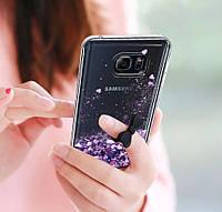 Чехол-накладка жидкий блеск для Samsung Galaxy A3/A320 (2017), фото 1