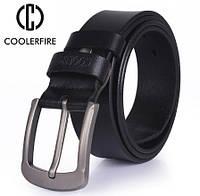 Ремень мужской кожаный COOLERFIRE (черный)