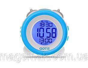 Электронный будильник голубой GOTIE GBE-200N, фото 2
