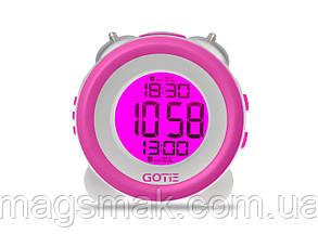 Электронный будильник фиолетовый GOTIE GBE-200F, фото 2