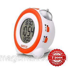 Электронный будильник оранжевый GOTIE GBE-200P