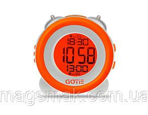 Электронный будильник оранжевый GOTIE GBE-200P, фото 2