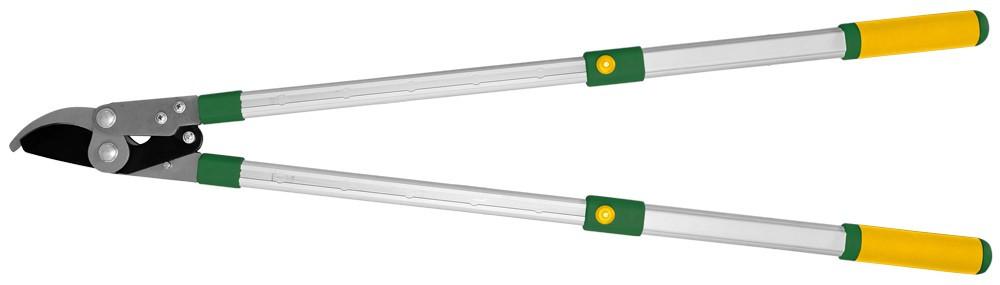 Секатор для веток, косой срез, телескопические ручки VERANO