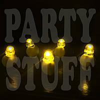 Светодиоды для шаров Желтые, одноцветные