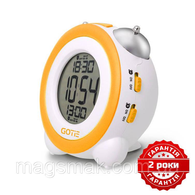 Электронный будильник жёлтый GOTIE GBE-200Y