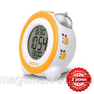 Электронный будильник жёлтый GOTIE GBE-200Y, фото 2