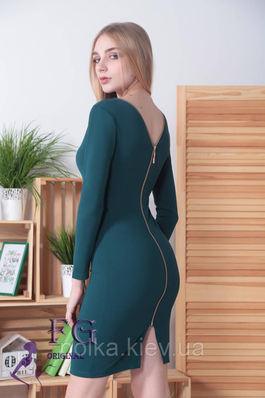 """Платье вечернее """"Прайда""""  темно-зеленый, 48"""