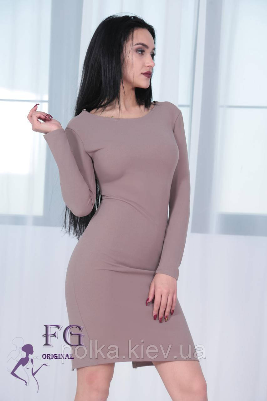 """Платье вечернее """"Прайда""""  капучино, 48"""