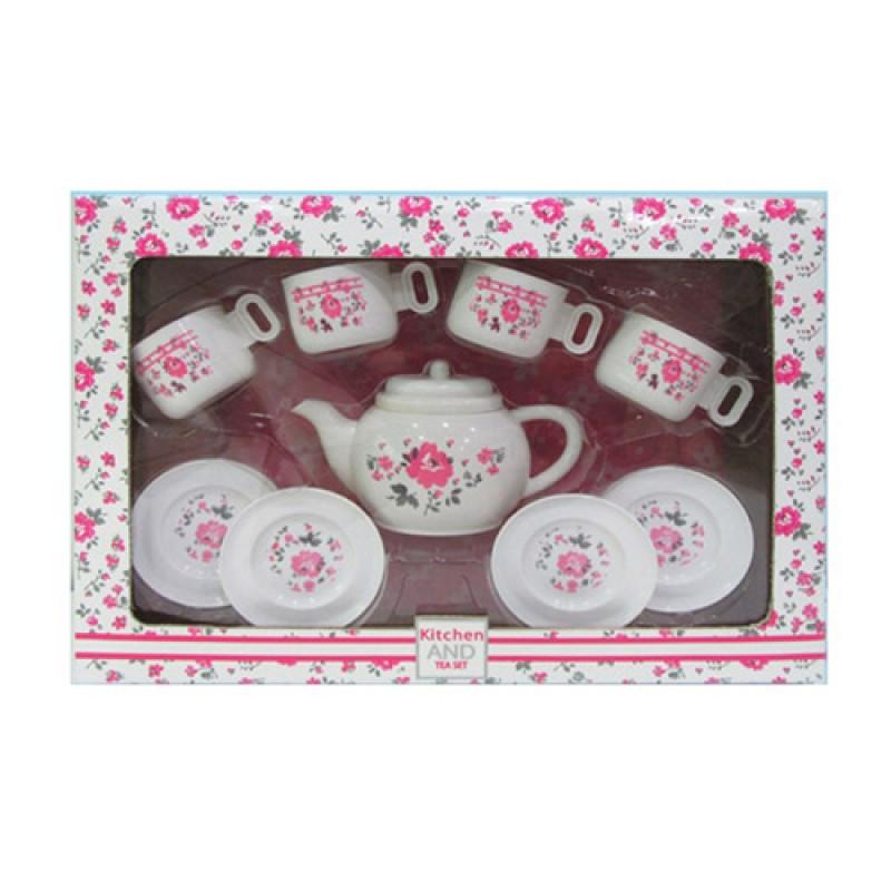 Дитяча іграшкова посуд, чайний сервіз на 4 персони, LN863B