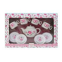 Дитяча іграшкова посуд, чайний сервіз на 4 персони, LN863B, фото 1