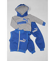 Детский теплый спортивный костюм тройка на рост 80-98 см